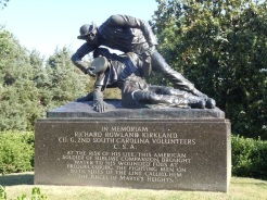 In Honor of Confederate Soldier who provided water to wounded Union troops.