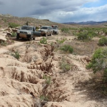 Trail Washes Out into Mountain Bike Only Trail